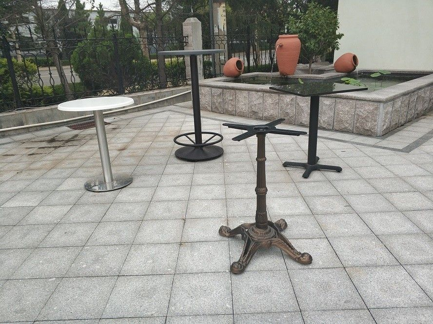 Outdoor  Dining Table Bases Waterproof Modern Table Leg Metal Tube Table legs