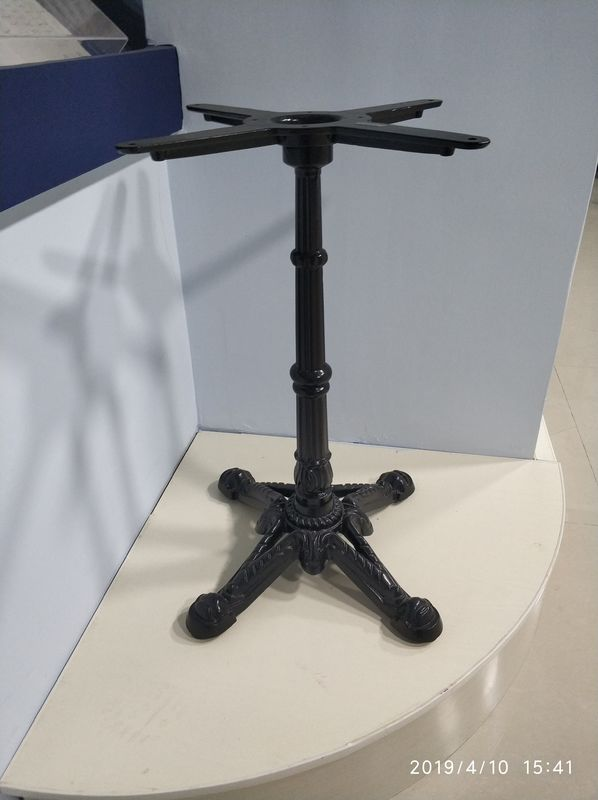 Cast Iron Table base dining height Original design powder coat Ornamental Table leg