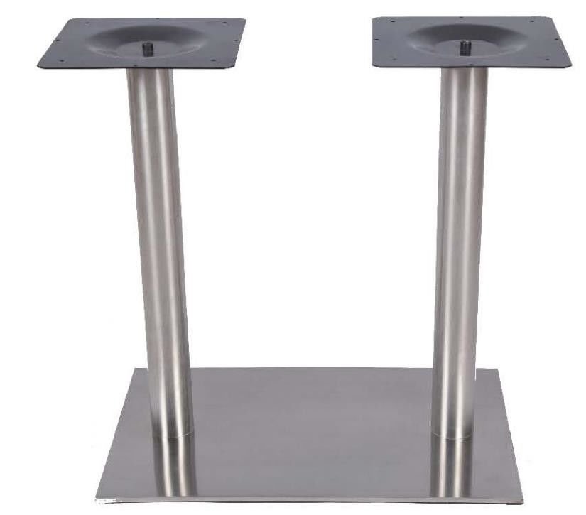 Modern Style Restaurant Dining Room Table Base / Square Metal Table Legs